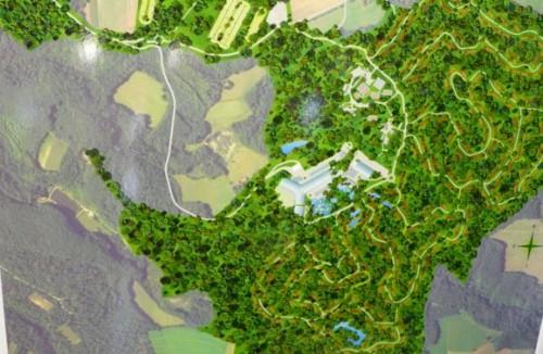 Maquette aérienne du projet