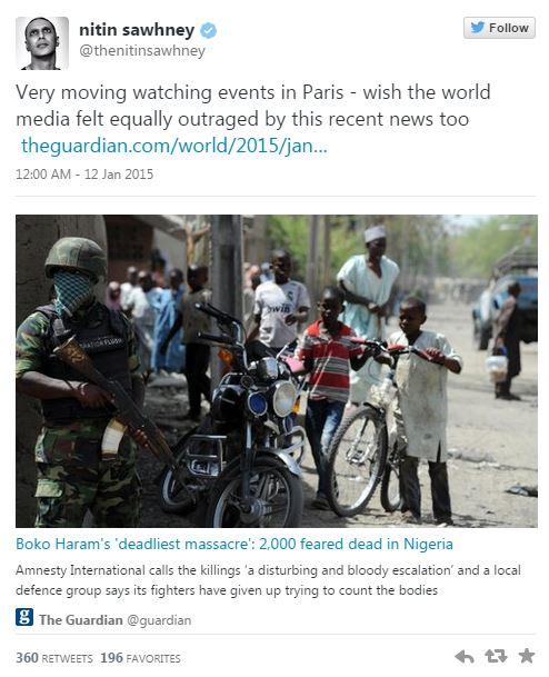 Nigeria - Tweet émotion