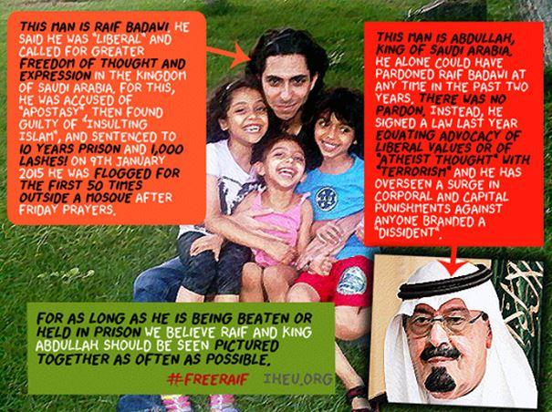 Raif Badawi - affiche