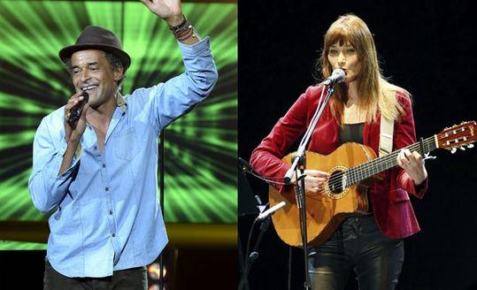 Yannick Noah et Carla Bruni épargnés par la polémique (crédit photo Sipa)