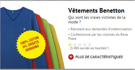 Benetton - CCFD campagne