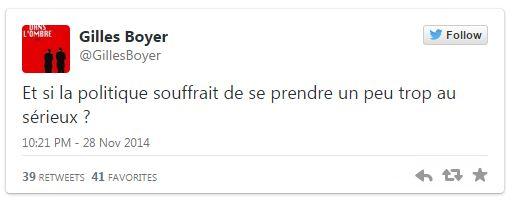 Boyer - Tweet politique sérieux