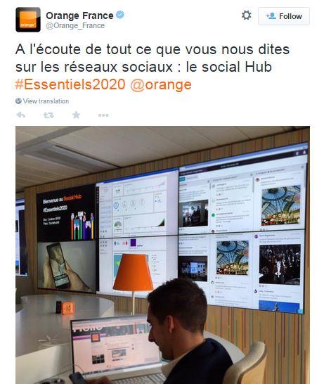 Orange Social Hub - Tweet social room