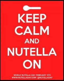 Nutella Day - Keep calm logo communication