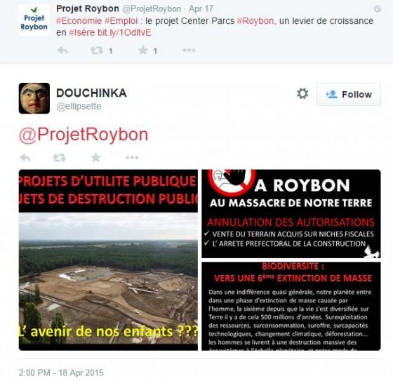 Roybon 2 - tweets pro anti