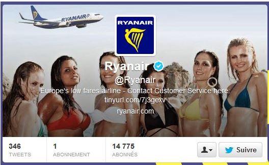 Ryanair - 3 - Twitter account