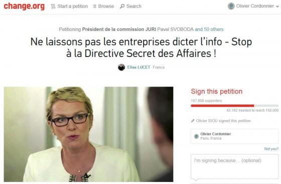 Secret - Petition Elise Lucet