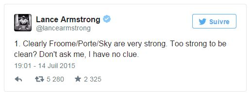 Froome 2 - tweet Armstrong