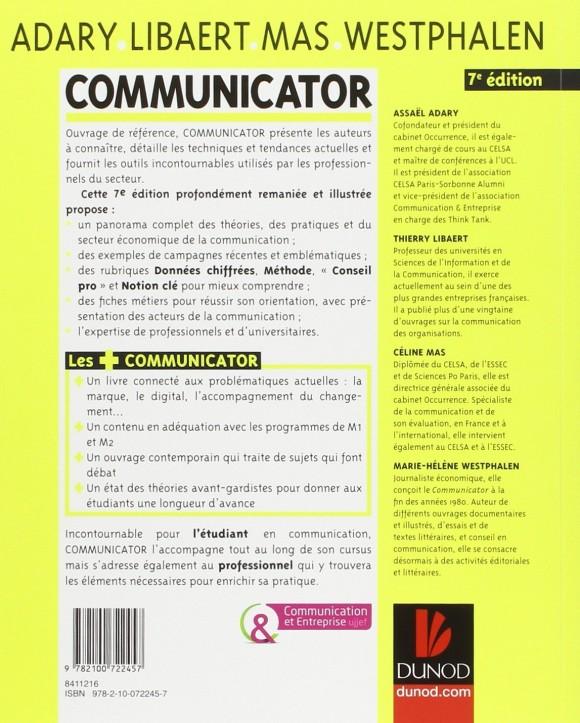Communicator - 4ème couverture