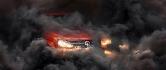 VW 2 - Voiture VW fumée noire
