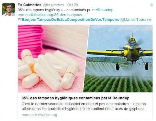 Tampons - Tweet Tampax Monsanto