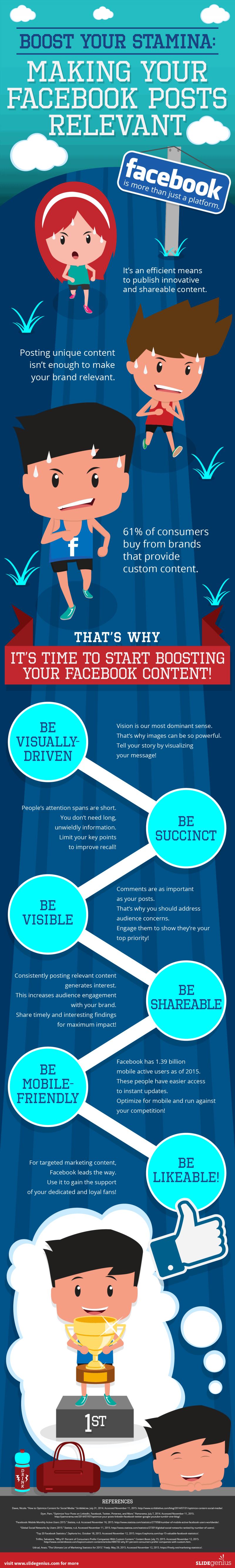 Infographie 262 - Facebook posts relevance