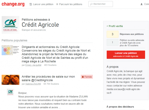 T2016 - pétition Crédit-Agricole