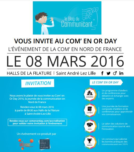 Com en Or Day - Invitation Blog du Communicant