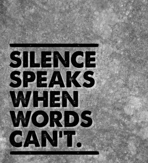 Silence - Words