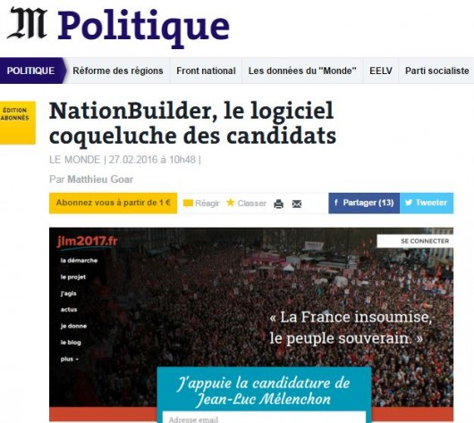 Nation Builder - Le Monde