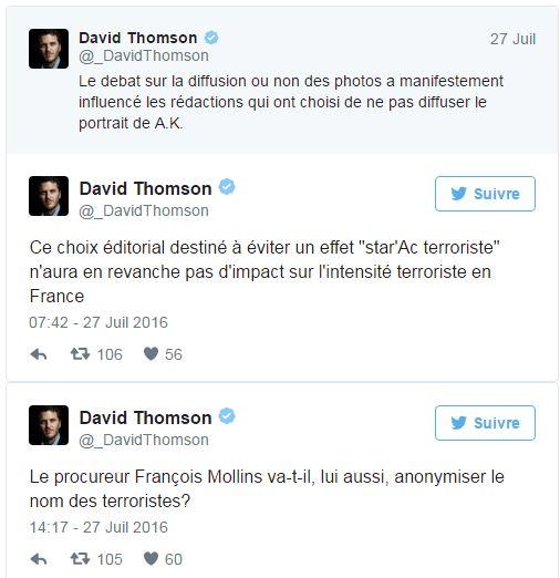 Anonymat - Tweet David Thomson