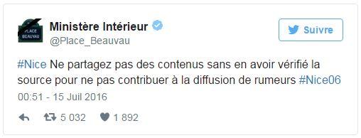 Nice - Tweet Beauvau