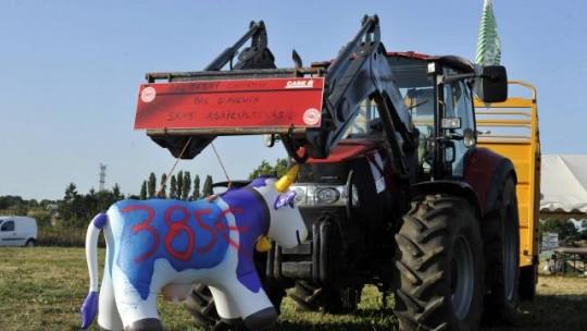 Lactalis - tracteur ecrse vache