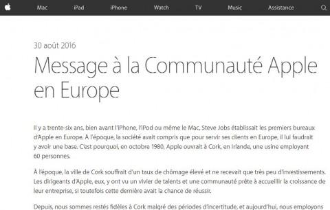 Apple EU - message