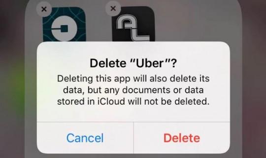 Uber 5 - Delete Uber