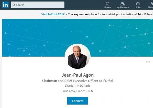 CEO Digital presence - Agon Linkedin