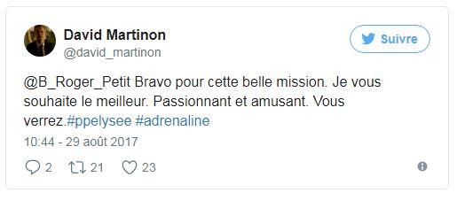 Porte Parole - Tweet David Martinon