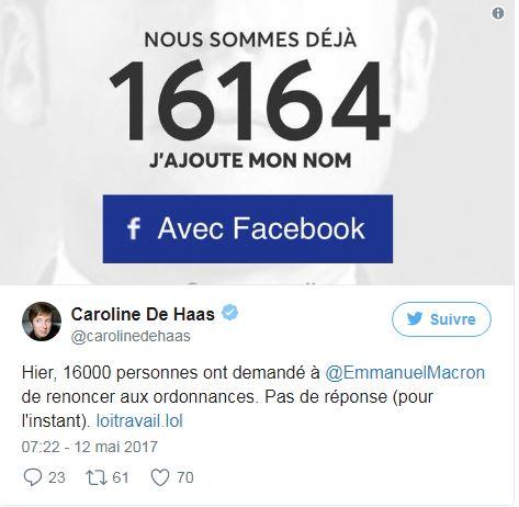 Porte Parole - petition